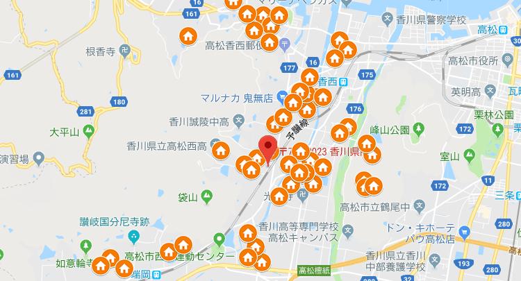 香川県高松市エリア地図