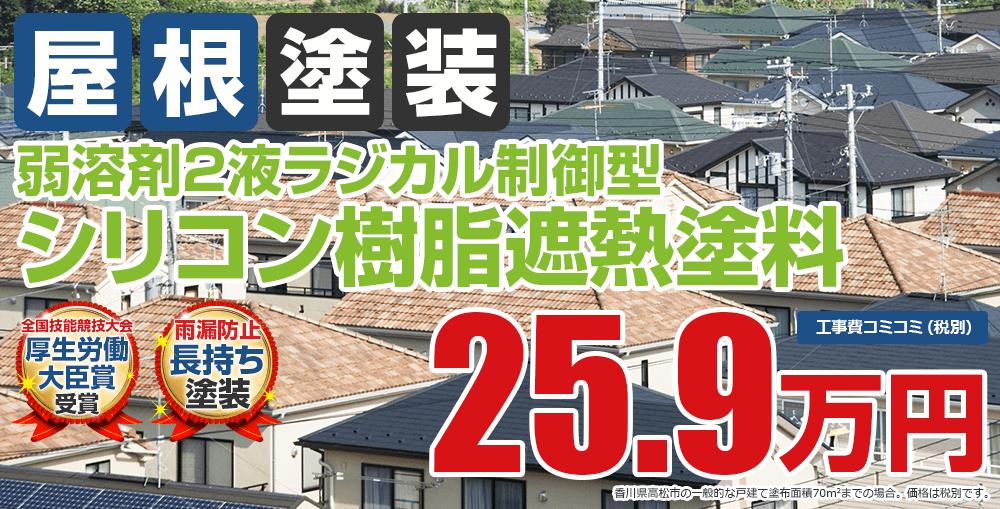 ラジカルシリコン遮熱塗装塗装 25.9万円